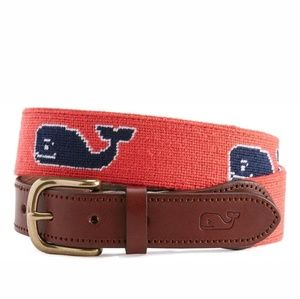Vineyard Vines Needlepoint Embroidered whale belt
